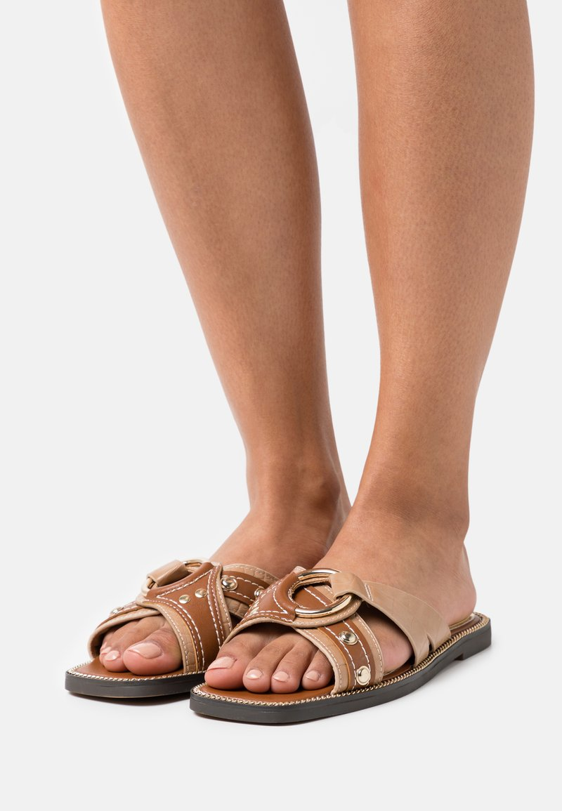 River Island Wide Fit - Mules - brown