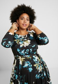 Evans - FLORAL FIT AND FLARE DRESS - Jersey dress - multi - 4