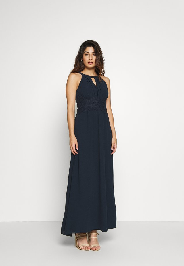 VIMILINA HALTERNECK DRESS - Galajurk - total eclipse