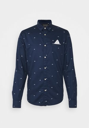 REGULAR FIT CLASSIC FIL COUPÉ POCHET - Shirt - dark blue