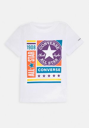 MIXED BOXES TEE - Print T-shirt - white