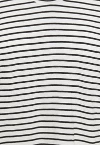 Selected Femme - SLFBELIVE TEE - Print T-shirt - snow white/black - 2