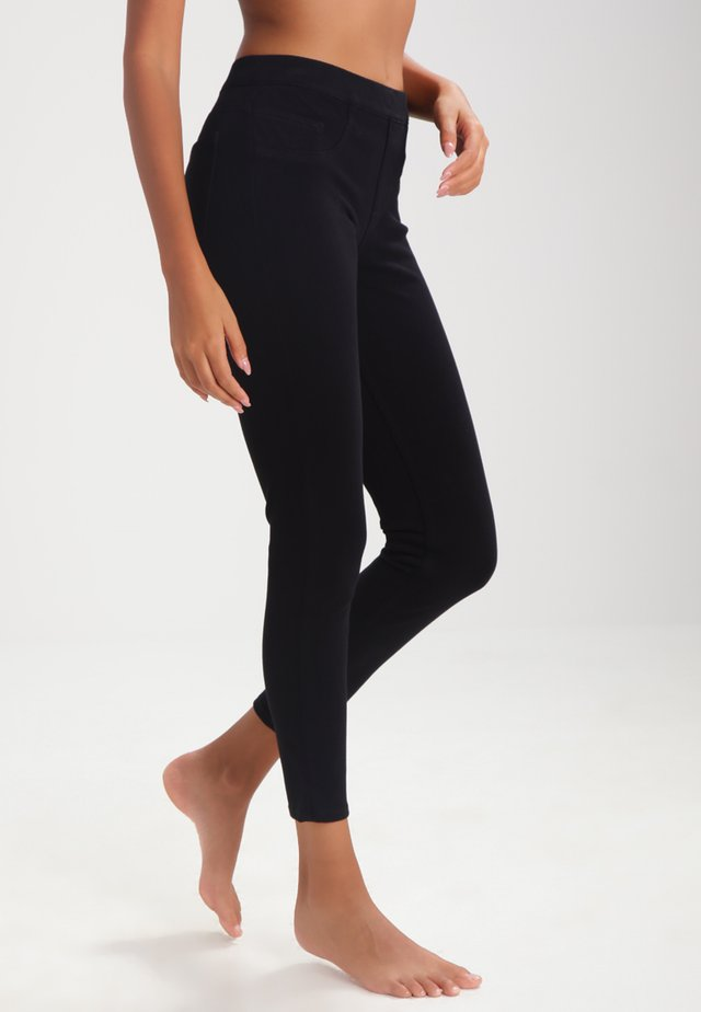 ANKLE JEAN-ISH - Leggings - very black