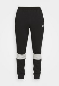adidas Performance - COLORBLOCK ESSENTIALS - Tracksuit bottoms - black/medium grey heather - 3