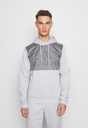 MUST HAVES AEROREADY  - Mikina s kapucí - mottled grey