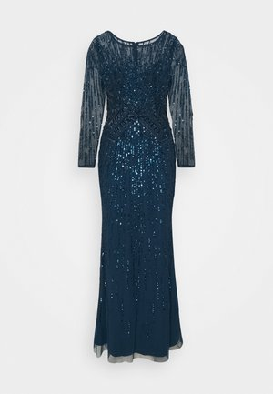 BEADED MERMAID GOWN - Iltapuku - deep blue