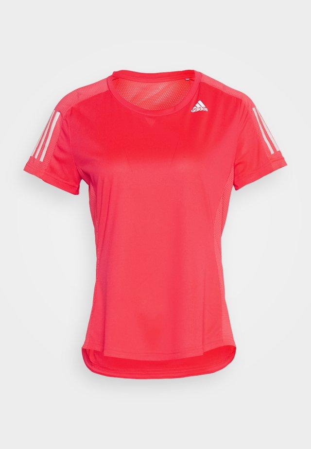 OWN THE RUN TEE - T-shirt print - signal pink