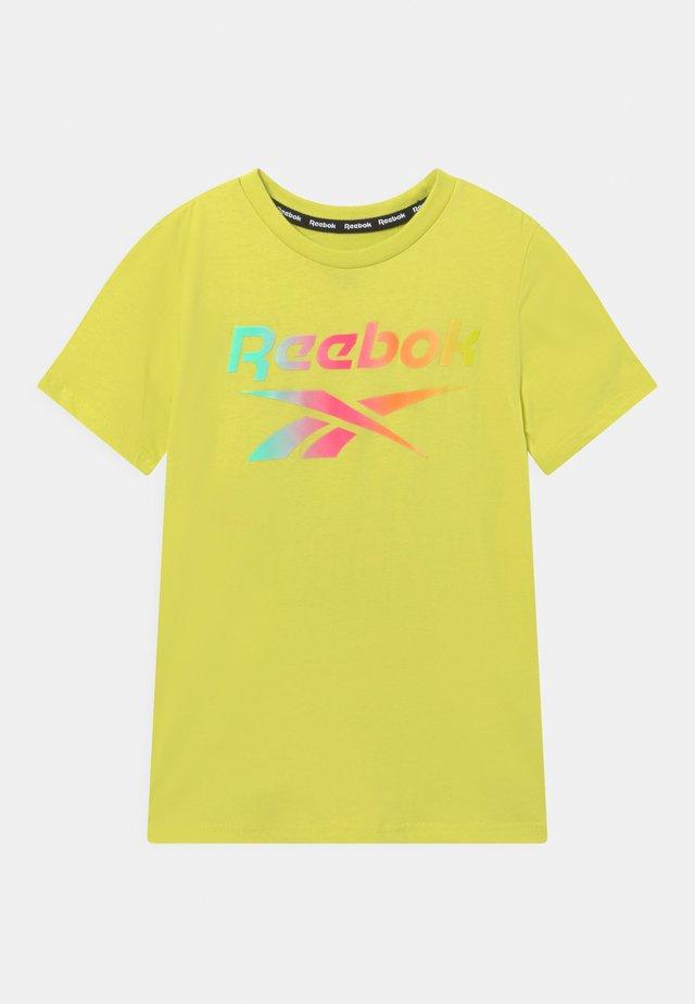 RAINBOW LOGO TEE UNISEX - T-shirt print - yellow