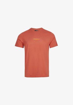 RETRO SUNSET - Print T-shirt - redwood