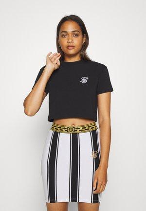 RETRO BOX FIT CROP TEE - Basic T-shirt - black