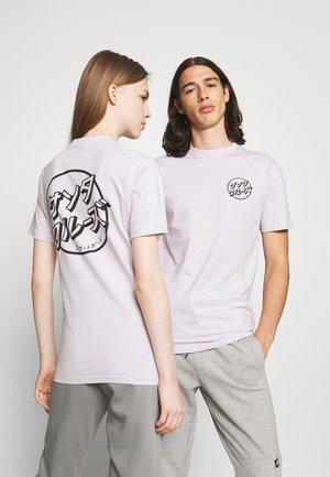 JAPANESE DOT EXCLUSIVE UNISEX - Print T-shirt - lavander