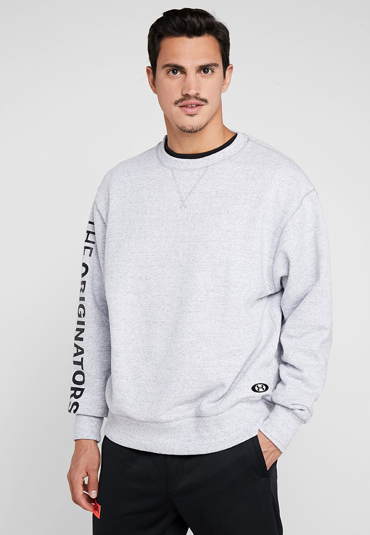 Under Armour - PERFORMANCE ORIGINATORS CREW - Sweatshirts - steel light heather/black