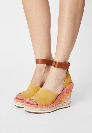 MARISOL - Platform sandals - gold/yellow/sunrise