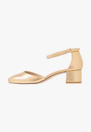 LEATHER CLASSIC HEELS - Klassiske pumps - gold