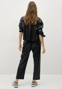Mango - SIENA - Leather trousers - zwart - 2