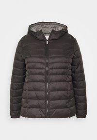 ONLY Carmakoma - CARTAHOE HOOD JACKET  - Light jacket - black - 4