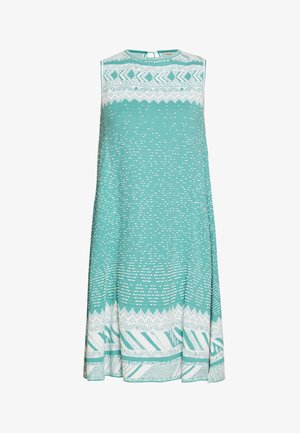 DRESS GEOMETRIC PATTERN - Day dress - aqua