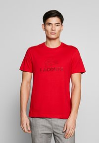 Lacoste - TH8602-00 - Print T-shirt - red - 0