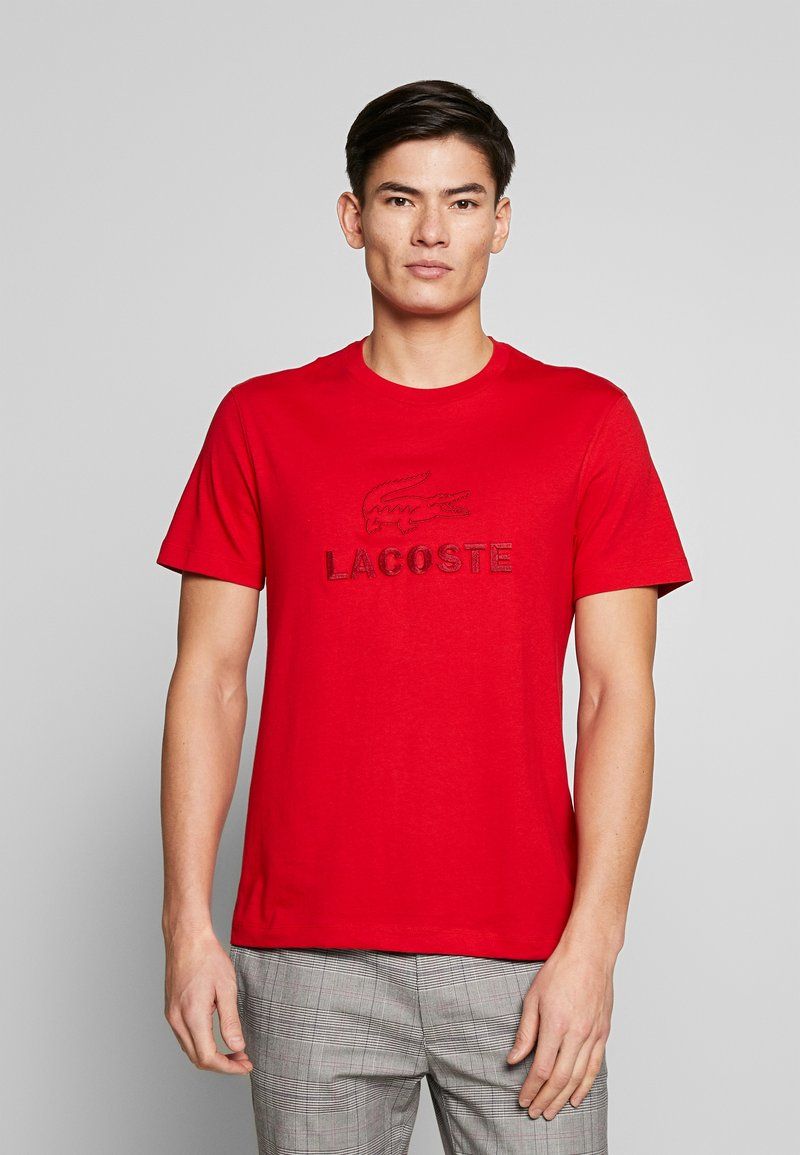 Lacoste - TH8602-00 - Print T-shirt - red