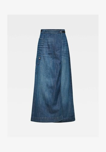 Wrap skirt - worn in atoll blue
