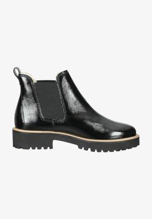 Platform ankle boots - schwarz lack