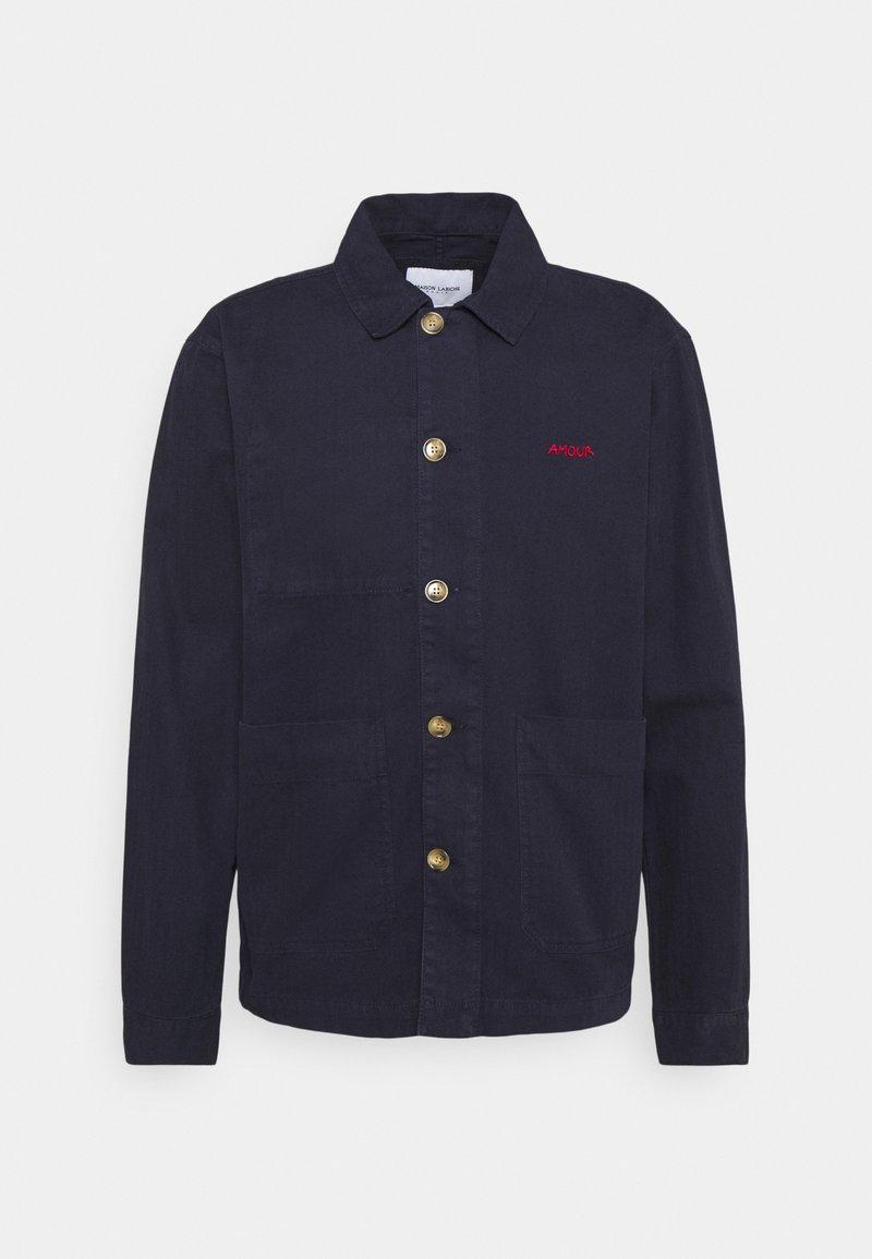Maison Labiche - WORKER JACKET AMOUR - Giacca di jeans - carbon blue