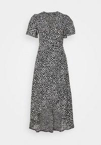 Missguided Petite - HIGH LOW MIDI DRESS DALMATIAN - Day dress - black - 0