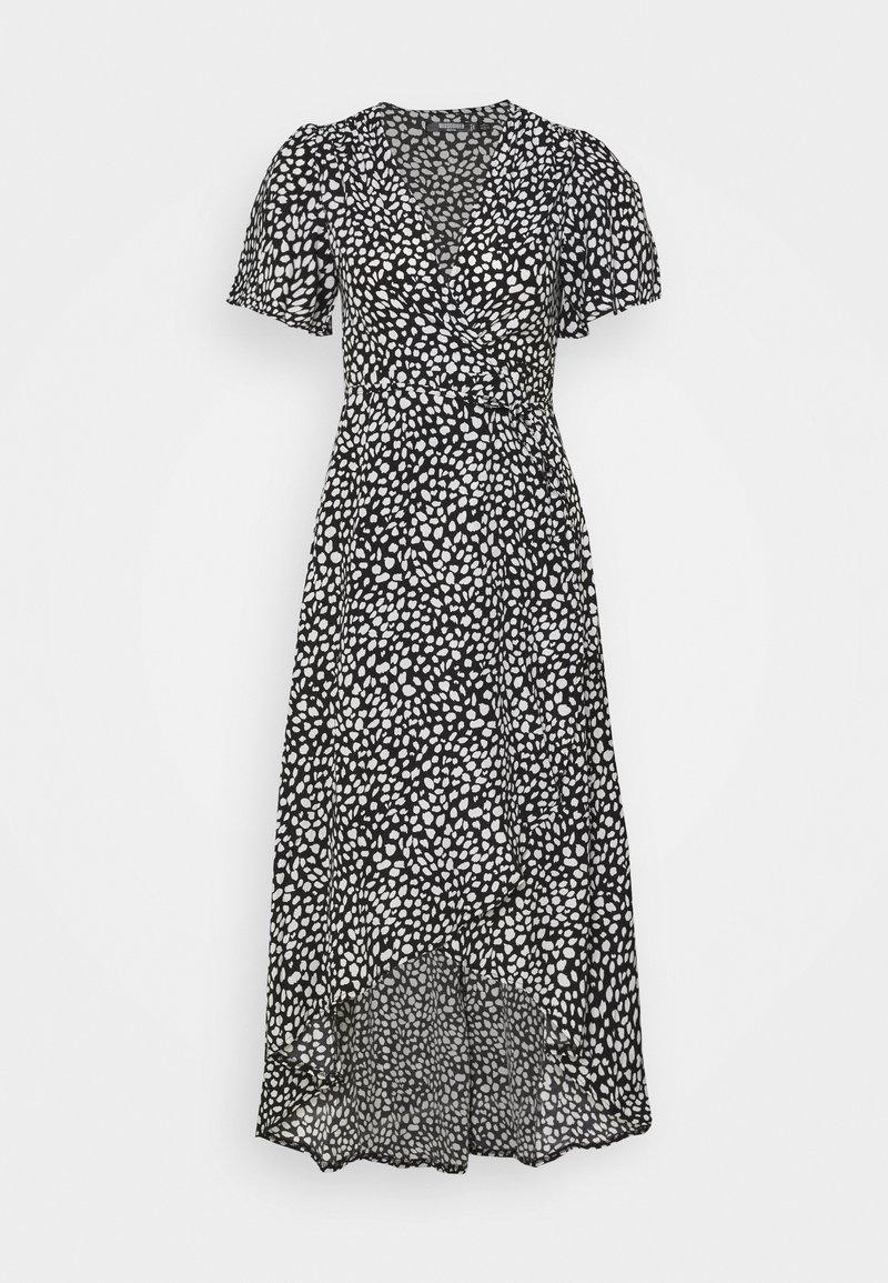 Missguided Petite - HIGH LOW MIDI DRESS DALMATIAN - Day dress - black