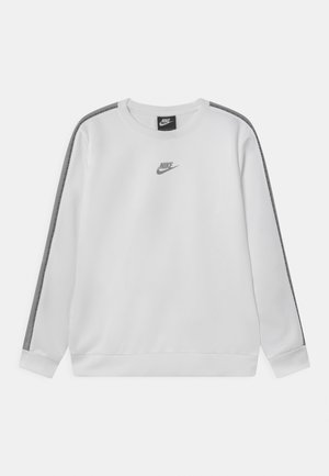 REPEAT CREW - Long sleeved top - light smoke grey/white