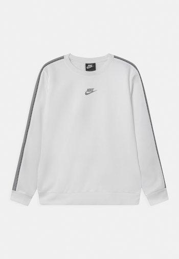 REPEAT CREW - Maglietta a manica lunga - light smoke grey/white