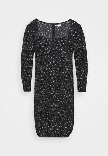 SQUARE NECK DITSY PRINT DRESS