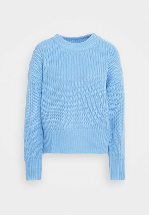 BASIC CHUNKY CREW NECK  - Jumper - blue