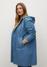 Violeta by Mango - Classic coat - niebieski - 4