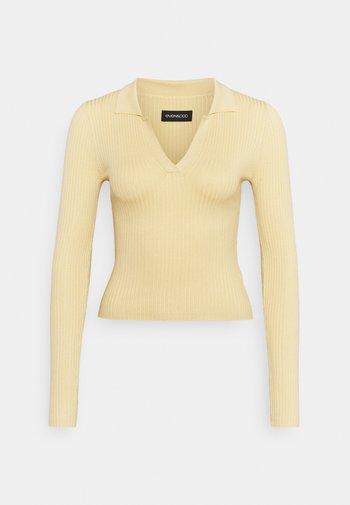 Strikkegenser - light yellow