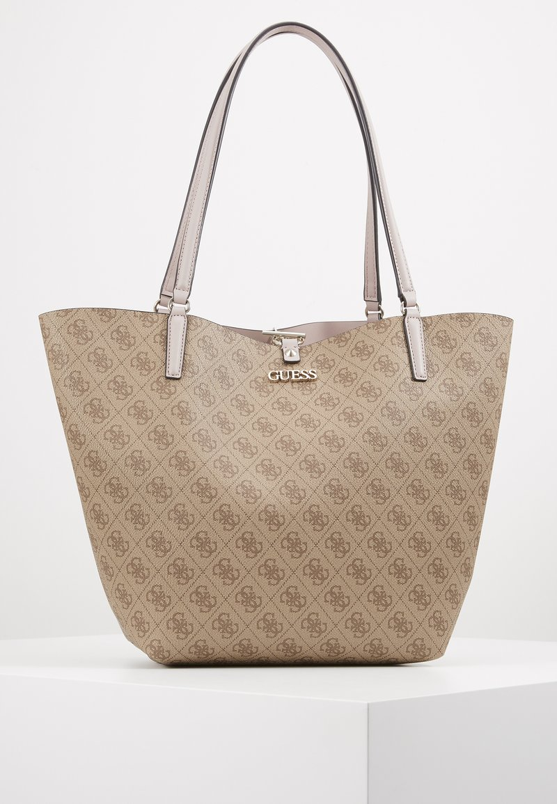Guess - ALBY TOGGLE TOTE SET - Tote bag - brown