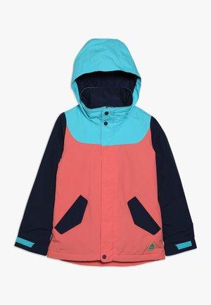 ELODIE - Snowboardjacka - coral/blue/dark blue