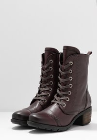 Be Natural - Lace-up ankle boots - bordeaux - 4