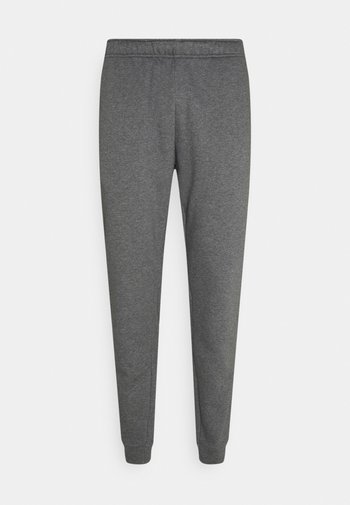 TAPER - Tracksuit bottoms - charcoal heather/white