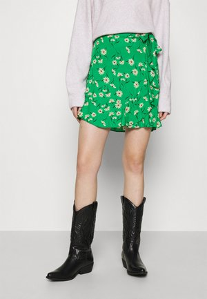 DANIELLA DAISY RUFFLE  - Mini skirt - green pattern
