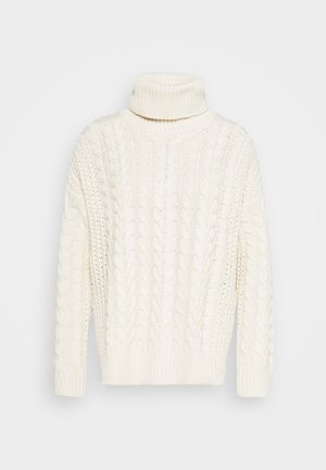 BIG NECK CABLE - Svetr - off white