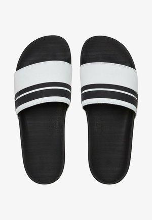RIVI  - Sandales de bain - white/black/white