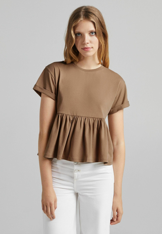 Damen MIT KURZEN ÄRMELN UND VOLANTS - T-Shirt print