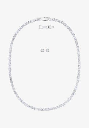 TENNIS DELUXE SET - Earrings - white