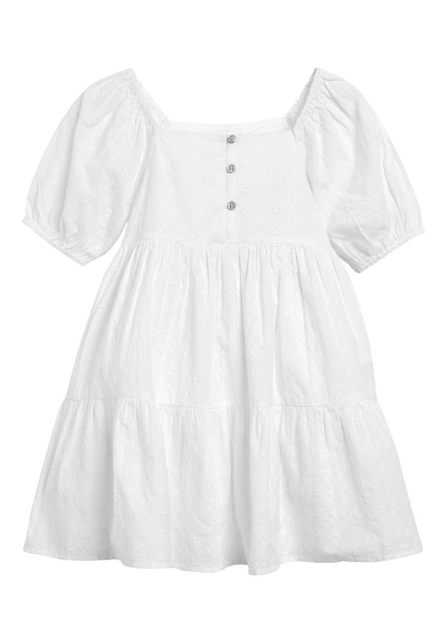 PINK BRODERIE BUTTON DRESS (3-16YRS) - Robe d'été - white