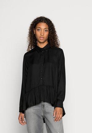 JDYSTAY HIGH LOW SOLID - Skjorte - black