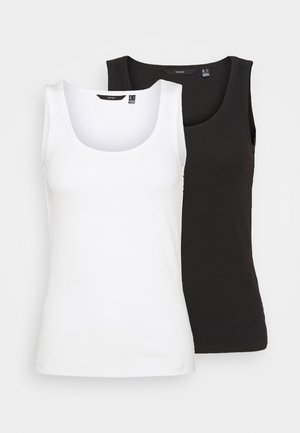 VMJESSICA TANK 2 PACK - Topper - snow white/black