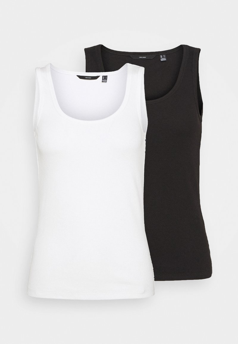 Vero Moda - VMJESSICA TANK 2 PACK - Top - snow white/black