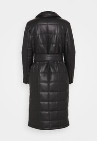 Topshop - QUILTED COAT - Classic coat - black - 1