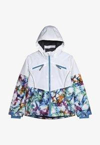 Spyder - GIRLS CONQUER - Lyžařská bunda - white/turquoise - 3