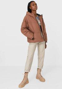 Stradivarius - Winter jacket - light brown - 1